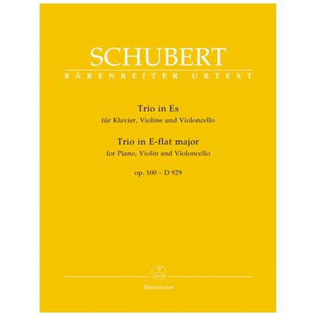 Schubert, F.: Klaviertrio D 929 Op. 100 Es-Dur