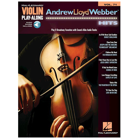 Andrew Lloyd Webber Hits for Violin (+Online Audio)