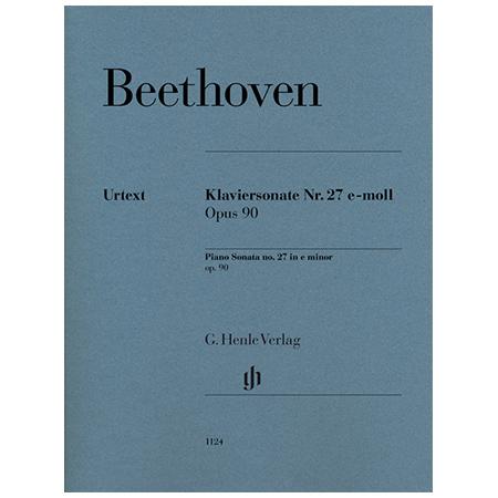 Beethoven, L. v.: Klaviersonate Nr. 27 Op. 90 e-Moll
