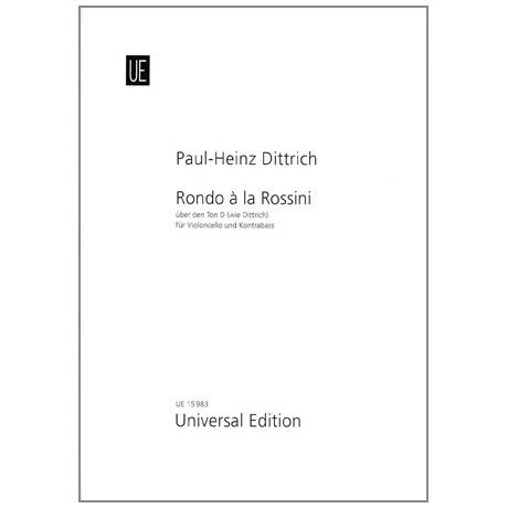 Dittrich, P. H.: Rondo à la Rossini über den Ton D