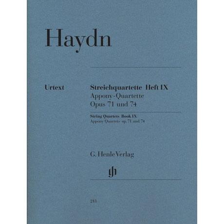 Haydn, J.: Streichquartette Heft 9: Op. 71 und 74 »Appony«
