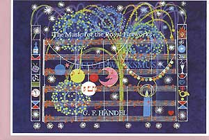 Art greeting card Fireworks music