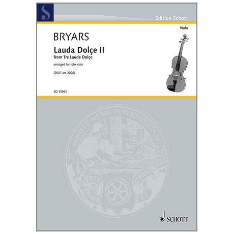 Bryars, G.: Lauda Dolçe II (2007)