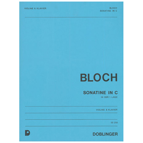 Bloch, W.: Sonatine C-Dur