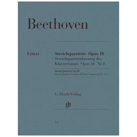 Beethoven, L. v.: Streichquartette Op. 18/1-6, Op. 14/1