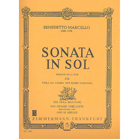 Marcello, B.: Sonate G-Dur