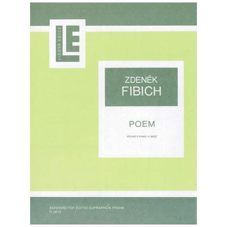 Fibich, Z.: Poem