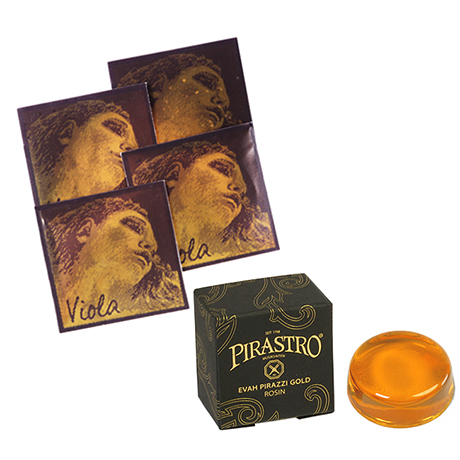 PIRASTRO Evah Pirazzi Gold viola strings SET + rosin
