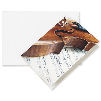 Greeting card VIOLIN