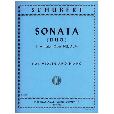 Schubert, F.: Violinsonate Op. 162 A-Dur