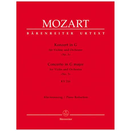 Mozart, W. A.: Violinkonzert Nr. 3 KV 216 G-Dur