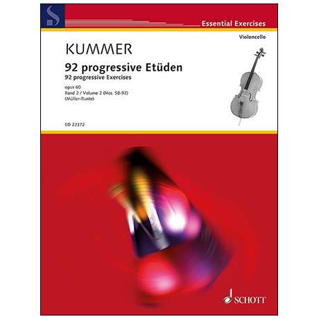 Kummer, F. A.: 92 progressive Etüden Op. 60 Band 2 (Nr. 58-92)