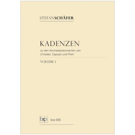 Schäfer, S.: Kadenzen Band 1 (zu Konzerten von Cimador, Capuzzi und Pichl)