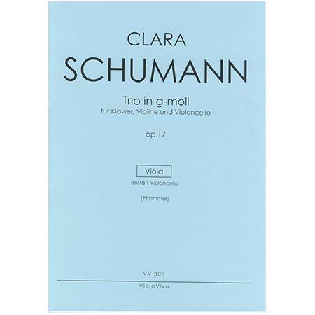 Schumann, C.: Trio für Violine, Viola und Klavier Op. 17 g-Moll