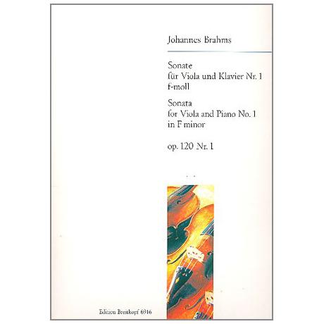 Brahms, J.: Violasonate Op. 120/1 f-Moll