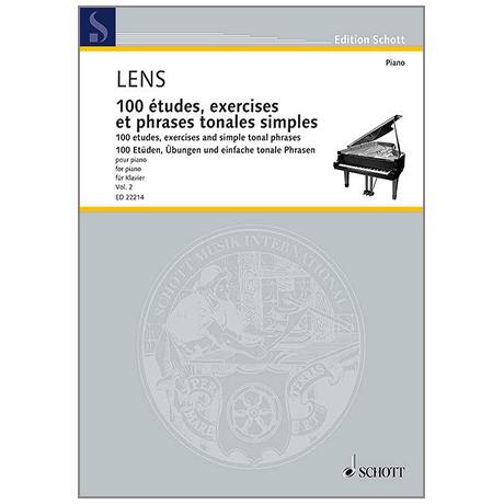 Lens, N.: 100 études, exercises et phrases tonales simples – Band 2