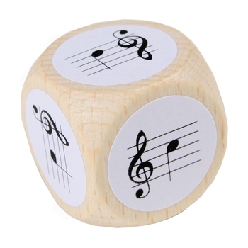 Note Dice with treble clef