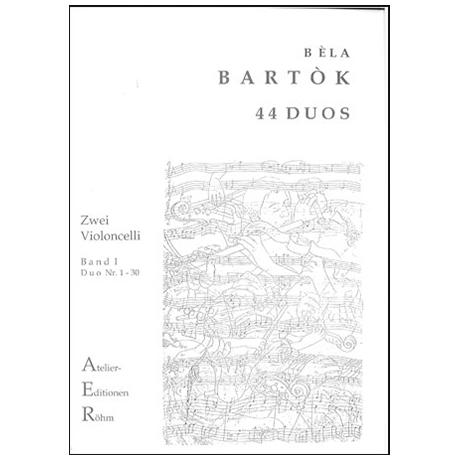 Bartok, B.: 44 Duos für 2 Celli Band 1 (Duo 1-30)