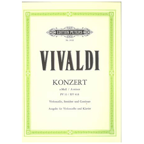 Vivaldi, A.: Violoncellokonzert a-moll PV 35 / RV 418