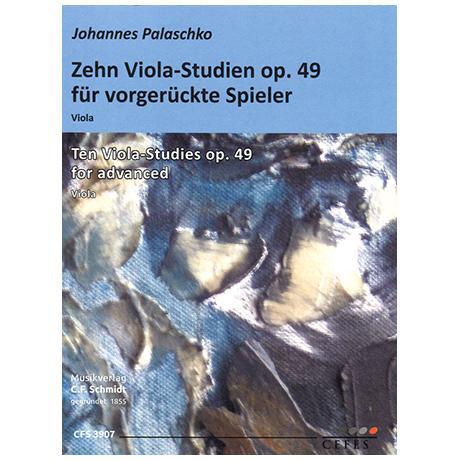 Palaschko, J.: Zehn Viola-Studien Op. 49