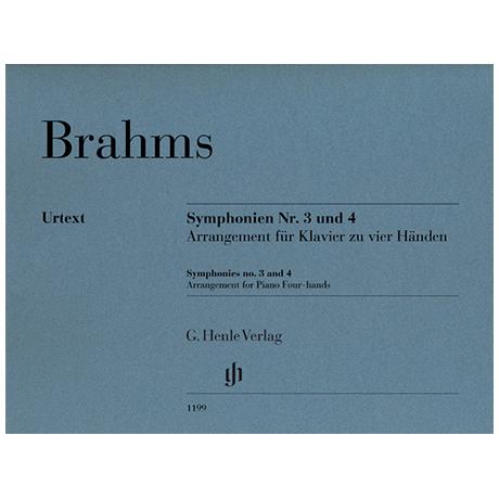 Brahms, J.: Symphonien Nr. 3 und Nr. 4