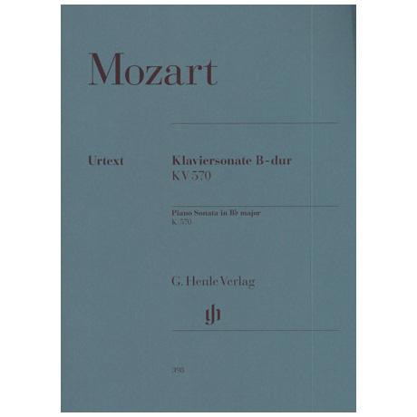 Mozart, W. A.: Klaviersonate B-Dur KV 570