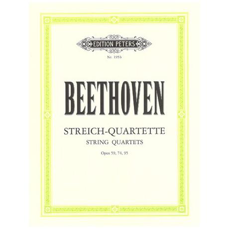 Beethoven, L.v.: Streichquartette Band 2, op. 59/1-3, op. 74, op. 95