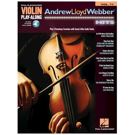 Andrew Lloyd Webber Hits for Violin (+Online Audio)