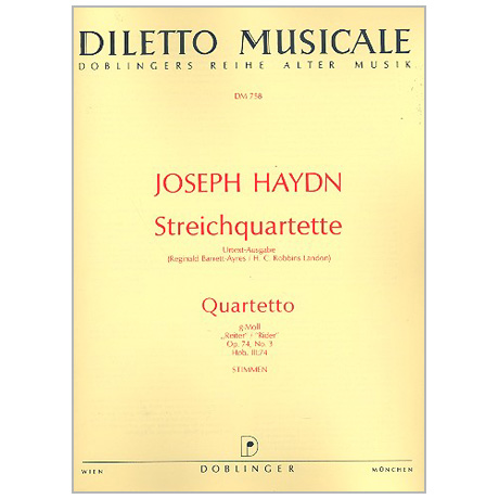Haydn, J.: Streichquartett Op. 74/3 Hob. III:74 g-Moll »Reiter-Quartett«