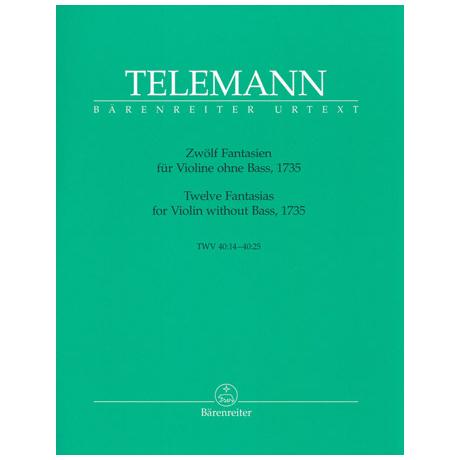 Telemann, G. Ph.: Zwölf Fantasien TWV 40:14 – 40:25