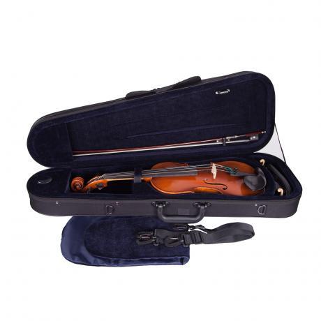 PETZ Classic violin case 4/4   black/blue