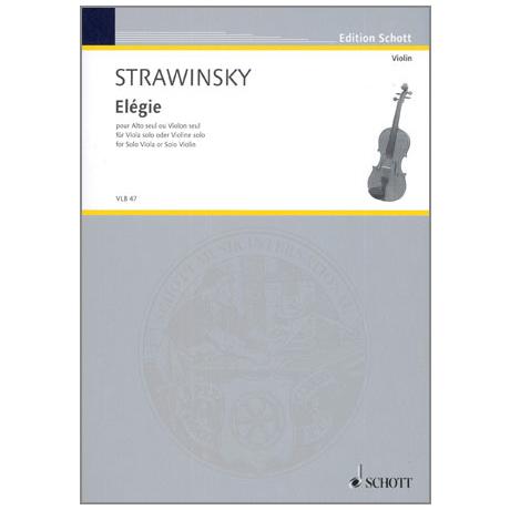 Strawinsky, I.: Elégie