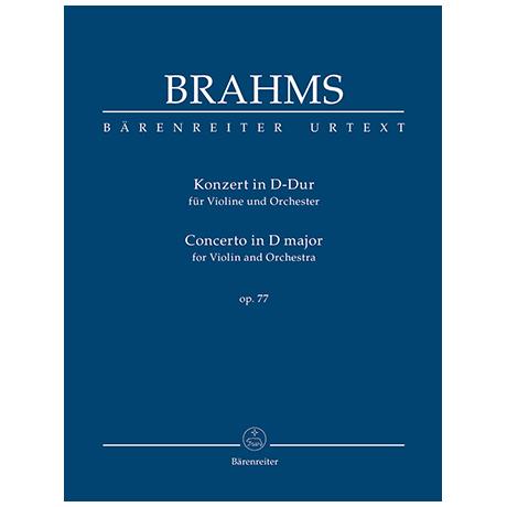 Brahms, J.: Konzert für Violine und Orchester D-Dur Op. 77