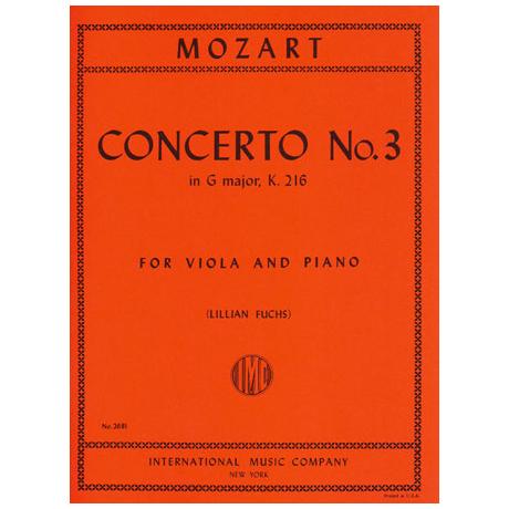 Mozart, W. A.: Violinkonzert in G-Dur KV 216