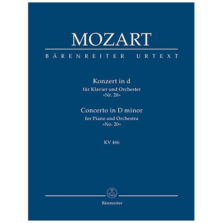 Mozart, W. A.: Konzert für Klavier und Orchester Nr. 20 d-Moll KV 466