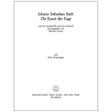 Bach, J. S.: Die Kunst der Fuge BWV 1080 – Viola
