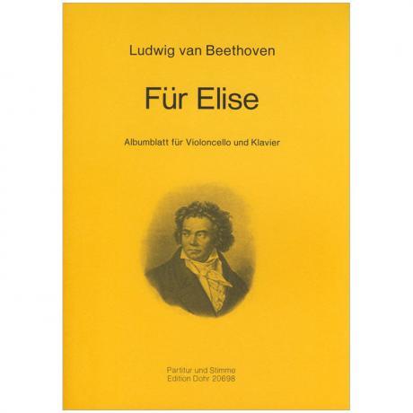 Beethoven, L. v.: Albumblatt »Für Elise« WoO 59
