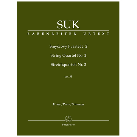 Suk, J.: String Quartet No.2 Op. 31 D flat Major