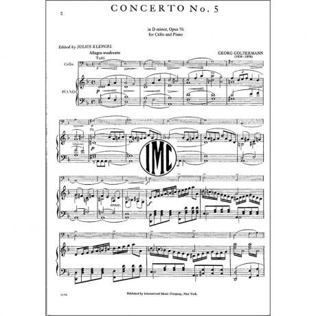 Goltermann, G : Violoncellokonzert Nr  5 Op  76 d-moll