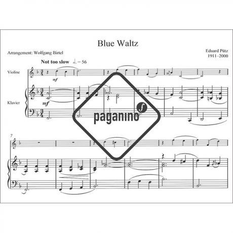 E Pütz Waltzing The Blues 3 Jazz-Walzer für Klavier