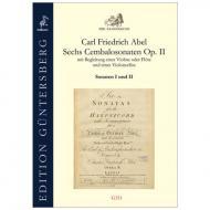 Abel, C. F.: Sechs Cembalosonaten Op. 2 – Sonaten I und II