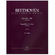 Beethoven, L. v.:  Bagatelle für Klavier a-Moll WoO 59 »Für Elise«