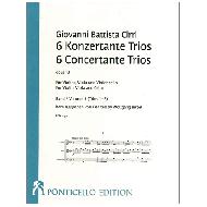 Cirri, G. B.: 6 Konzertante Trios Op. 18 Band 1 (Trios 1-3)