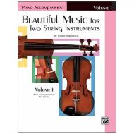 Applebaum, S.: Beautiful Music for two String Instruments Vol. 1 – piano accompaniment