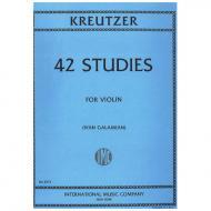 Kreutzer, R.: 42 studies for violin