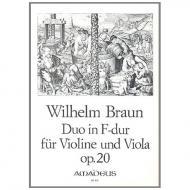 Braun, W.: Duo F-Dur Op. 20