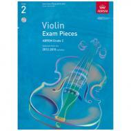 ABRSM: Selected Violin Exam Pieces Grade 2 (2012-2015) (+CD)