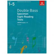 ABRSM: Double Bass Specimen Sight-Reading Tests – Grades 1-5 (From 2012)
