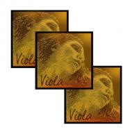 EVAH PIRAZZI GOLD viola strings D-G-C by Pirastro